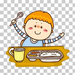 Child Cartoon Eating PNG