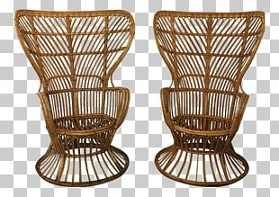 Table Rattan Chair Garden Furniture Wicker PNG