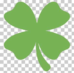 Emoji Four-leaf Clover Text Messaging SMS Symbol PNG