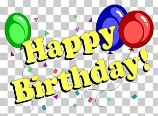 Happy Birthday Wish Party Greeting & Note Cards PNG