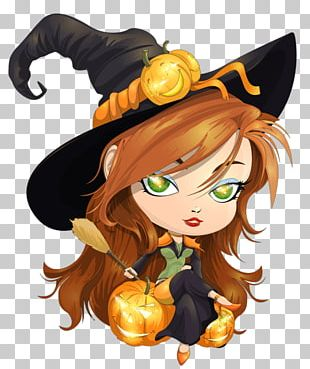 Young Witch Halloween PNG