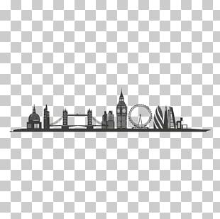London Skyline Silhouette Graphic Design PNG