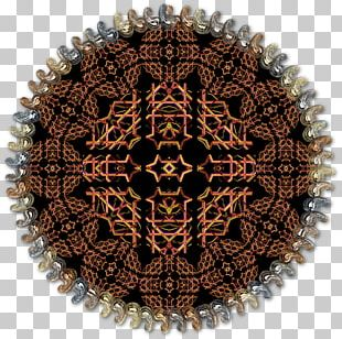Symmetry Circle Brown Pattern PNG