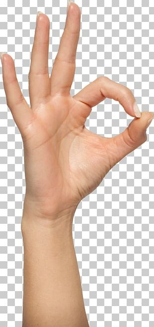 OK Gesture Hand PNG