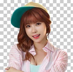 Sun Hat Bangs Long Hair Wig PNG