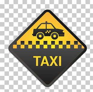 Checker Taxi Logo Yellow Cab PNG