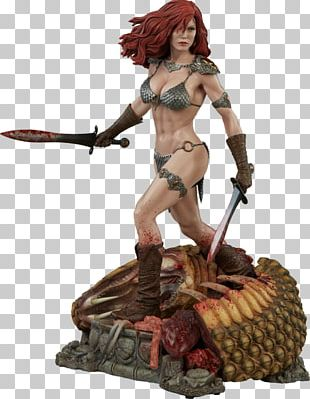 Red Sonja Conan The Barbarian Sideshow Collectibles Figurine Sculpture PNG