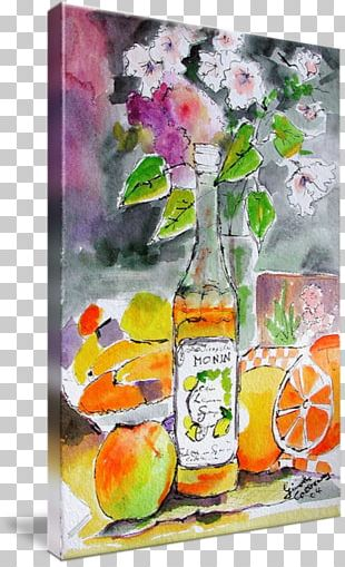 Still Life Photography Watercolor Painting Liqueur Gallery Wrap PNG