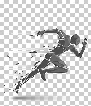 Running Silhouette Illustration PNG