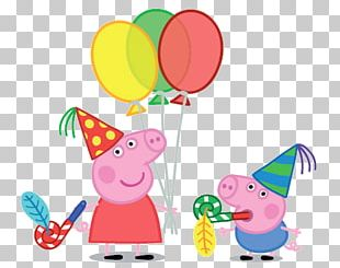 George Pig Daddy Pig Party Birthday PNG