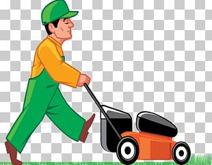 Lawn Mower Cutting PNG