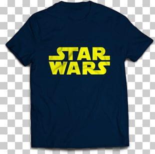 T-shirt Star Wars Logo Sleeve Font PNG