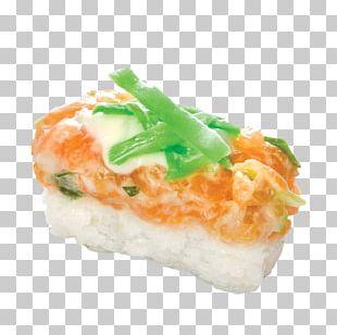 California Roll Smoked Salmon Sushi Onigiri Food PNG