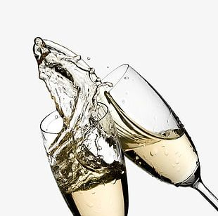 Free Champagne Glasses Cheers Pull Material PNG