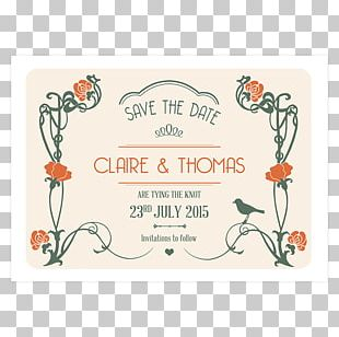 Wedding Invitation Art Deco Art Nouveau Save The Date Pepper & Joy PNG