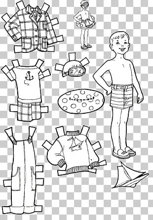 Paper Doll Colouring Pages Coloring Book PNG