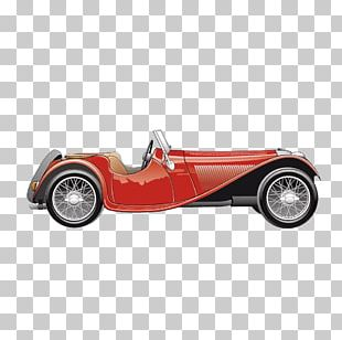 Vintage Car Convertible MINI Cooper PNG