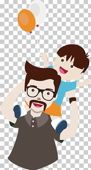 Father Son Cartoon PNG