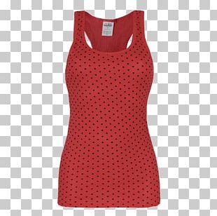 Polka Dot Sleeveless Shirt Gilets Dress PNG
