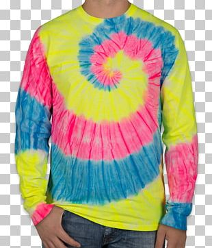 Long-sleeved T-shirt Long-sleeved T-shirt Tie-dye Clothing PNG