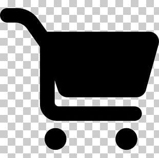 Supermarket Grocery Store Shopping Cart Silhouette PNG