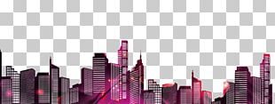 Silhouette City Illustration PNG