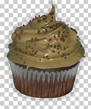 Buttercream German Chocolate Cake Cupcake Muffin PNG