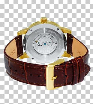 Strap Watch Stainless Steel Gold PNG