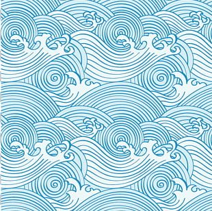 Wind Wave Ocean Pattern PNG