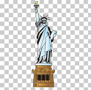 Statue Of Liberty Cartoon Landmark PNG