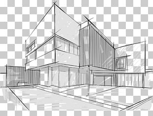 Architecture Drawing Building Sketch PNG