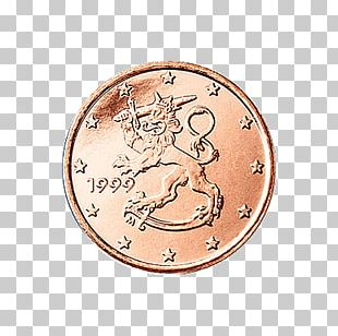 1 Cent Euro Coin Finnish Euro Coins Penny PNG