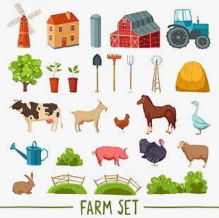Figure Farm Animals Tool PNG