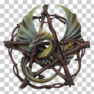 Pentagram Dragon Pentacle Wicca Magic PNG