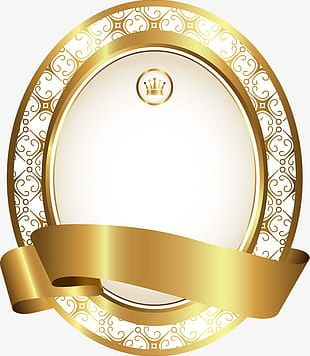 Luxury Golden Disk PNG