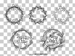 Christmas Wreath Drawing Illustration PNG