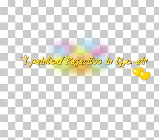 Text Song Desktop Yellow PNG