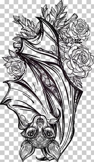 Bat Tattoo Artist Flash Gothic Fashion PNG