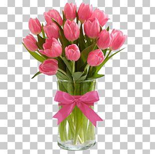 Tulip Vase Cut Flowers Rose PNG