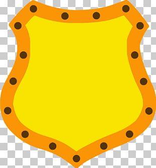 Yellow Shield Cartoon Orange PNG