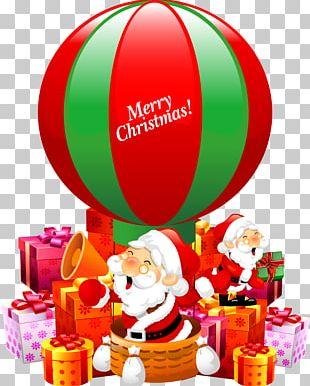 Santa Claus Christmas Ornament Gift Poster PNG