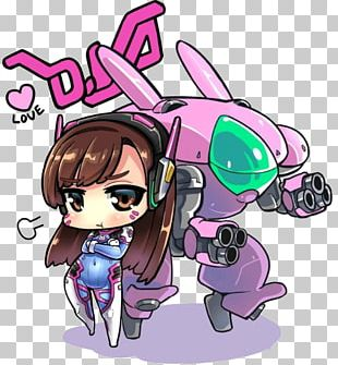 Overwatch D.Va Chibi Drawing Fan Art PNG