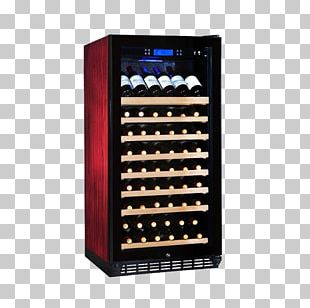 Red Wine Wine Cooler Cabinetry PNG