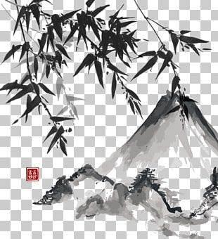Japanese Painting Ink Wash Painting Japanese Art PNG