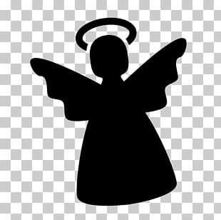 Silhouette Computer Icons Angel Christmas PNG