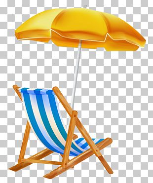 Beach Umbrella With Chair Clipar PNG