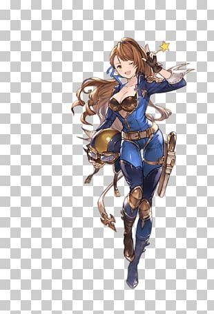 Granblue Fantasy Character Drawing Art Model Sheet PNG