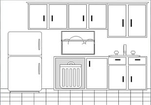 Table Kitchen Cabinet Dining Room PNG