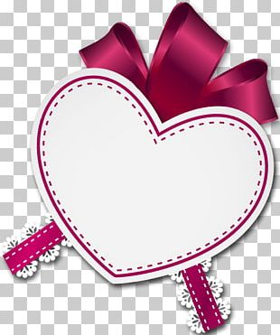 Heart Love Valentine's Day Pink M PNG