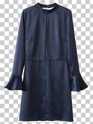 Neckline Sleeve Dress Overcoat Halterneck PNG